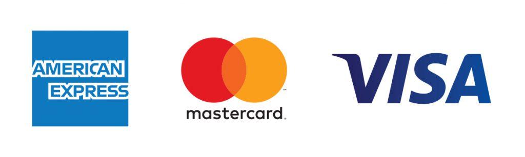 American Express, Mastercard, Visa