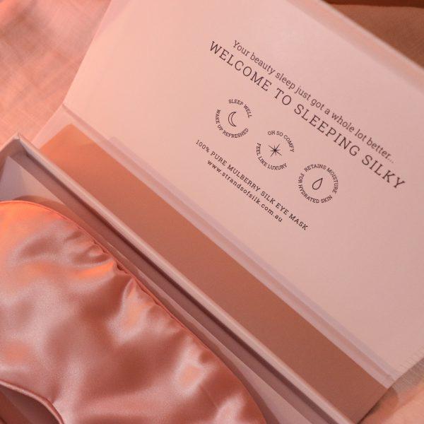Silk Eye Mask – Pink